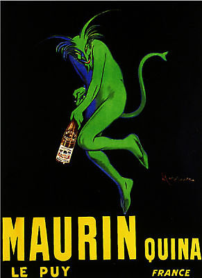 Maurin Quina Imp Alcohol French Food Wine Devil Advertisement Art Poster Print