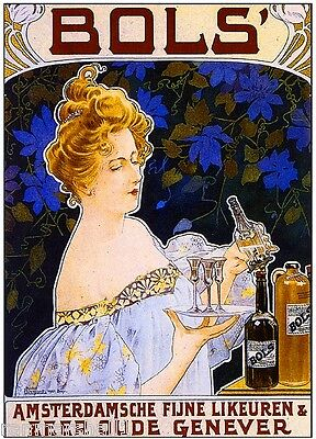 Bols Beer Wine Champagne Advertisement Art Poster Print