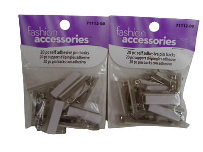 "Adhesive Bar Style Pin Backs With Safety Catch 1"" - 5 Bags"
