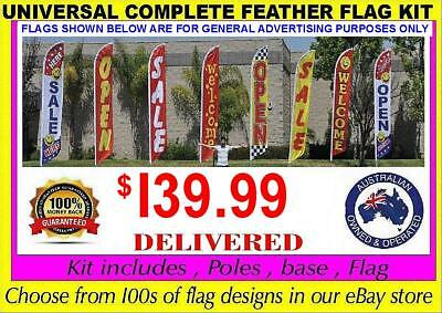 Feather Flag Kit Outdoor inc: Ground Spike Swooper Banner Sign (not teardrop)