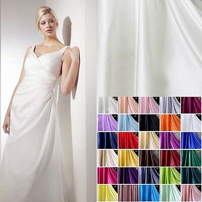 """1 Yard 16 MM 100% Pure Silk Charmeuse Satin Fabric Clothing Sewing 45"""" Wide"""