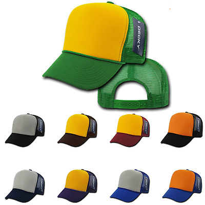 1 Dozen Decky Industrial 5 Panel Trucker Hat Hats Cap Caps Two Tone Wholesale