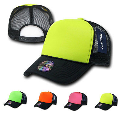 1 Dozen Decky Neon Curved Bill Mesh Trucker Baseball Hats Caps Wholesale Bulk