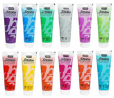 Pebeo Studio Acrylic Artist Paint 100ml Tubes - All Colours Available (1/2)