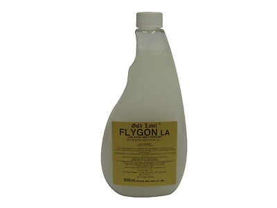 Gold Label Flygon LA Fly Repellent - 500ml Refill Bottle - Horse Summer/Fly