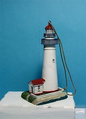 Lefton Christmas Lighthouse Ornaments-13633-Fort Gratiot, Michigan Lighthouse