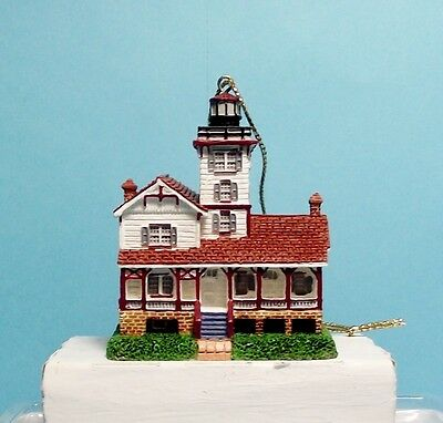 Lefton Christmas Lighthouse Ornament-13629-Hereford Inlet Lighthouse, New Jersey