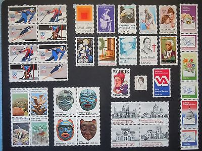 1980 US Commemorative Year Set #1795/1843  MNH (Inc 1795a-1798a) See Note Below