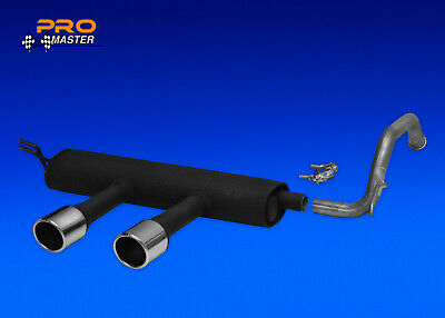 Exhaust Rear Silencer Back Box TOYOTA AYGO CITROEN C1 PEUGEOT 107 Duplex  Sport
