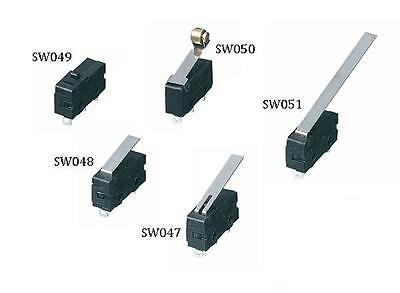 V4 Microswitch 5 Amp 250vac solder tags and with a selection of actuators