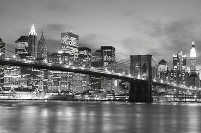 Brooklyn Bridge at Night-Wall Mural-12'wide by 8'high