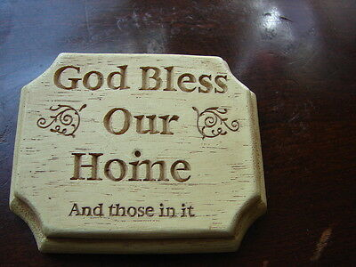 God Bless Our Home Ceramic Decorative Paperweight Portable Serenity