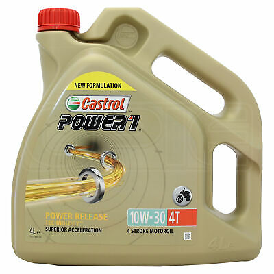 Castrol Power 1 4T 10w-30 Motorcycle 4 Stroke Engine Oil 10W30 4 Litres 4L