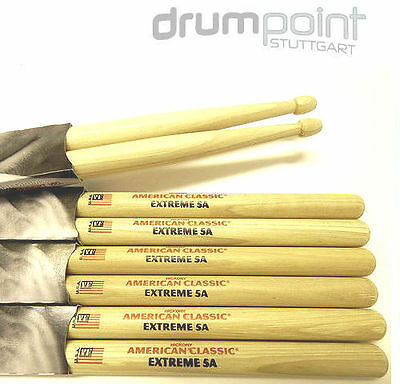 6 Paar Vic Firth American Classic Hickory Extreme X5A  Sticks TOP !!