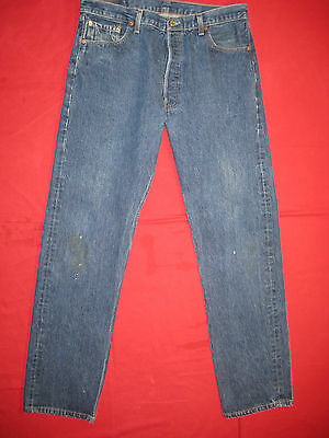 D6262 levi's 501 blue shrink to 36x34.5 jeans 38x38 vintage made in the U.S.A.