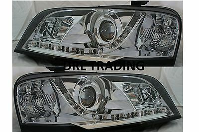 LED Chrome Projector Headlights for Ford Territory SX SY 04 05 07 08 DRL like