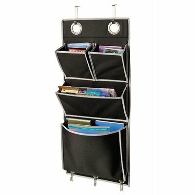 Delicieux Mail Organizer Over The Door Magazine Storage Pockets Hooks Books  Organizationa