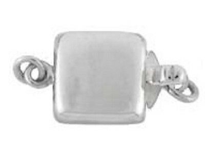Sterling Silver .925 Square Box Clasp. 8mm. 1 Piece. ~75R2~