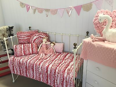 Linens n Things Baby Nursery Indie Shabby Chic Girls Cot Quilt Crib Bedding