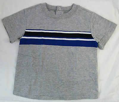 Wonderkids, 18 Month, Gray with Blue/White Stripe Shirt, New without Tags