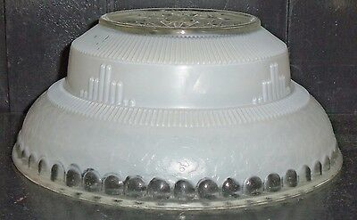 Martel Art Deco Glass Globe Hanging Ceiling Chandelier Light Shade Cover~ White