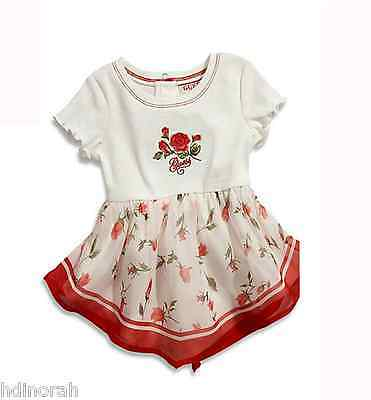 NWT Guess Baby Girls Rose Floral Dress