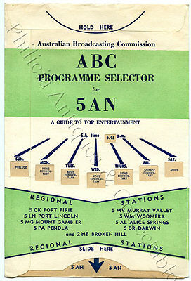 C1958 Abc Programme Selector 5Cl/5An/regional Stations Sa 'the Idiot Weekly' U34