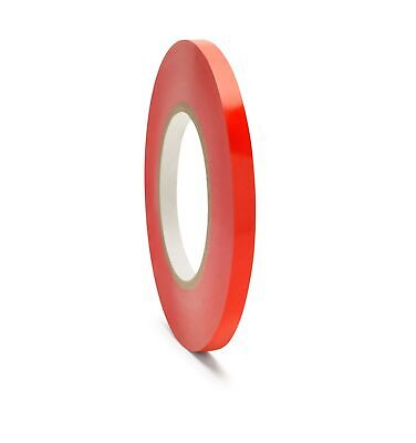 12 Rolls Red Poly Bags Tape Sealing Bag Tapes 3/8 Inch x 180 Yards