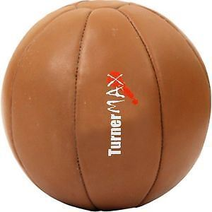 TurnerMAX Leather Medicine Ball Exercise Fitness Gym Balls Muscle Training MMA