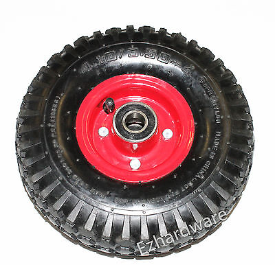 "10""x3.5"" Heavy duty Pneumatic wheels for jockey wheel and trolley wheels 20mm"