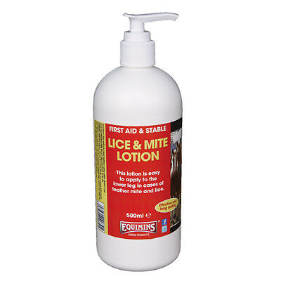 Equimins Lice & Mite Lotion x 500 Ml - Horse/Pony First Aid Care