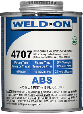 IPS Weld-On #4707 ABS Plastic Solvent Cement Glue Pint (16 oz.)