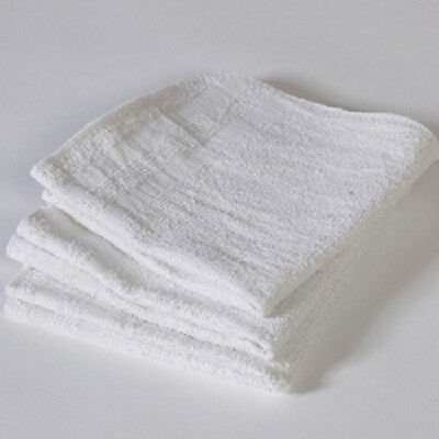 60 TERRY CLOTH 100% COTTON CLEANING TOWELS SHOP BAR RAGS 12X12 1.00# per dz