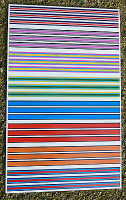 SLOT CAR SCALEXTRIC SCX RACE STRIPES 1/32nd sponsor logo stickers decals