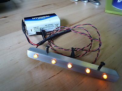 Truck  Lighting Set 5 White Leds Roof Bar  Fits Tamiya &  Most