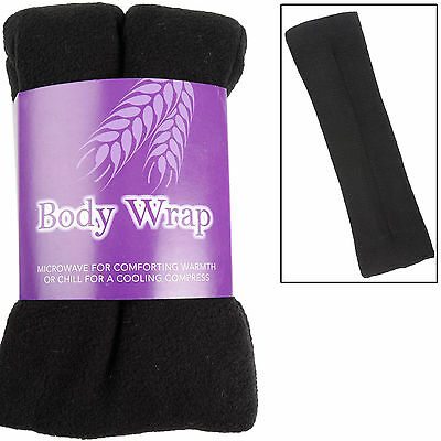 Lavender Scented Microwavable Wheat Warmer Black Cushion Wrap Ache Pain Soothing