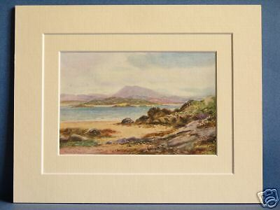 Muckish And Ards From Rosapenna Donegal Ulster Ireland Antique Mounted Print