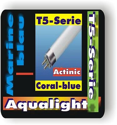 Aqualight Aquarium T5 2Stück Neonröhre Coral Blue 6 W.