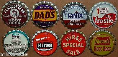 Vintage soda pop bottle caps ROOT BEER FLAVORS Lot of 16 different new old stock