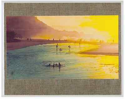 "Waimea Bay Tide Pool, Haleiwa, 1978 Giclee Hand Colored Photo On 8X10"" Foil Mat"