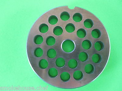 "#12 x 5/16"" (8 mm) "" S/S Meat Grinder Hobart LEM Torrey Screen Plate Disc"