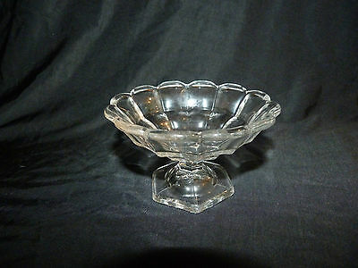 Vintage Heisey Clear Glass Small Compote or Sherbet Dish