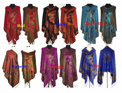 Double-face Chinese Lady Pashmina Silk Shawl/Scarf Wrap