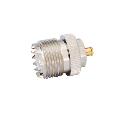 UHF SO-239 Female Jack to MCX Male Plug straight RF Coax Adapter Connector