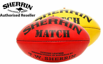 Sherrin Match Leather Football - Full Size 5 Aussie Rules Ball