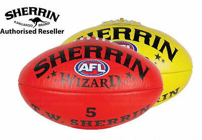 Sherrin Wizard Leather Football - Aussie Rules Football