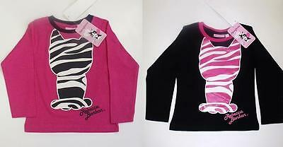 Kids Long Sleeve Character Top Girls Printed Cat Shirts Size 2-6 Years Pink,Red