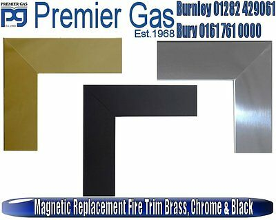 Magnetic Replacement Fire Trim Brass, Chrome & Black