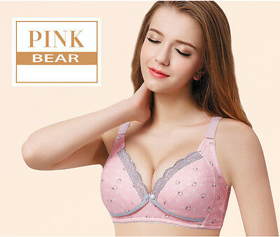 New Maternity Nusing Bra 3/4 Cup Front Buckle No underwired 34B-42DD Cotton