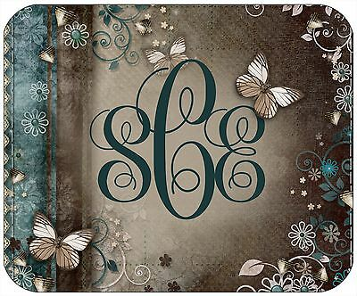 Mouse Pad Custom Monogrammed Thick Mousepad - Vintage Butterflies